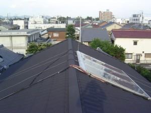 大垣市 屋根の断熱化 カラーガルバリウム鋼板屋根