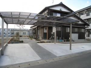 大垣市 駐車スペースを確保しすっきりシンプル外まわり