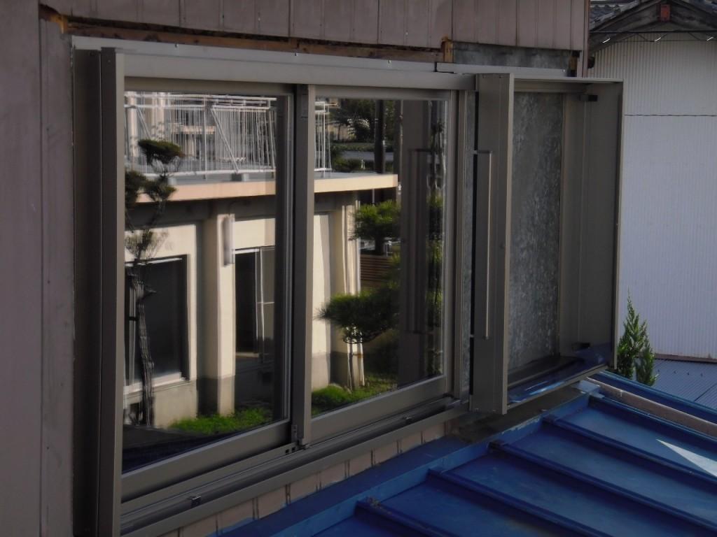 大垣市 木の窓からアルミサッシへ取り替え