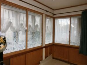 大垣市 内窓で防音・断熱 ガラスフィルムでおしゃれに目隠し